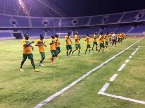 Chipolopolo have just concluded their evening training for match against Niger