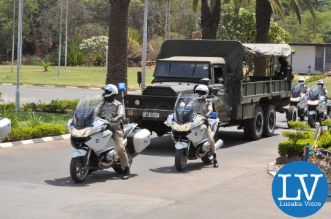 Rehearsals for Receiving remains of President Michael Sata