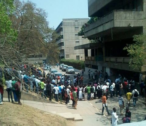 UNZA students at administration block - UNZA Network