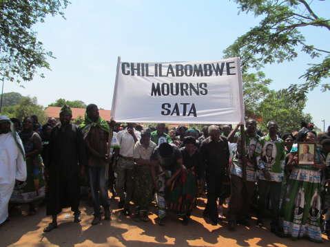 Chililabombwe mourns Sata