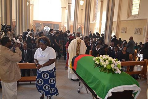 Church-Service-Funeral held for Sata in UK