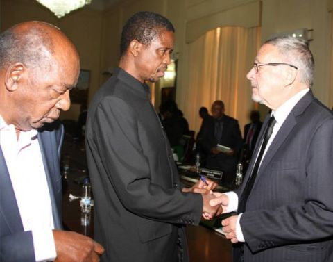 Dr Guy Scott, Mr Edgar Lungu