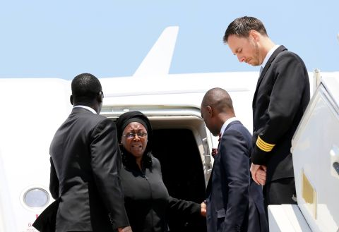 Dr Kaseba, Mulenga Sata on arrival from London, arrival of Presidfent Sata's Body at Kenneth Kaunda International Airport from London on November 1,2014