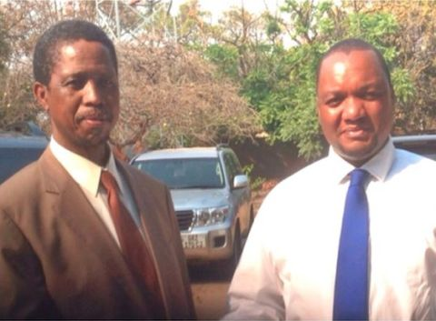 Edgar Lungu & Miles Sampa together during the 2011 campaigns
