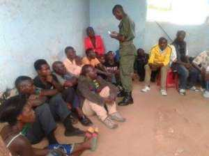 FARMERS Kasama protest with machetes and stones, arrested