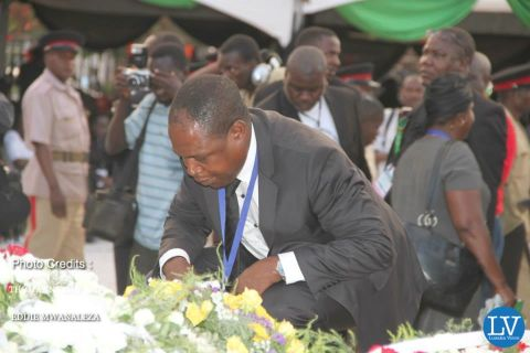 PRESIDENT SATA PUT TO REST IN PICTURES BY EDDIE AND THOMAS   -- KALUSHA BWALYA