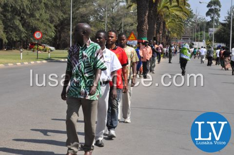 President Sata Body vieweing procession, Nov 3rd 2014 by Lusakavoice.com