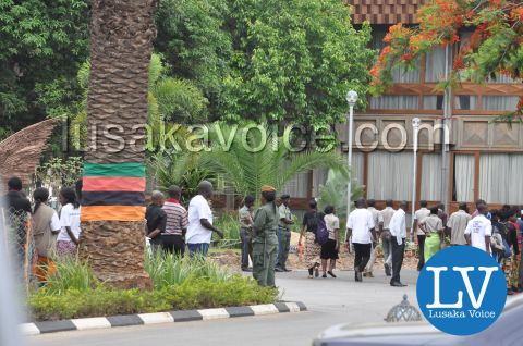 President Sata Body viewing procession, Nov 7th 2014 by Lusakavoice.com