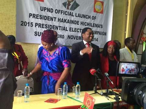 UPND Launches Campaigns, as high profile perosnalities endorse Hakainde for president of Zambia
