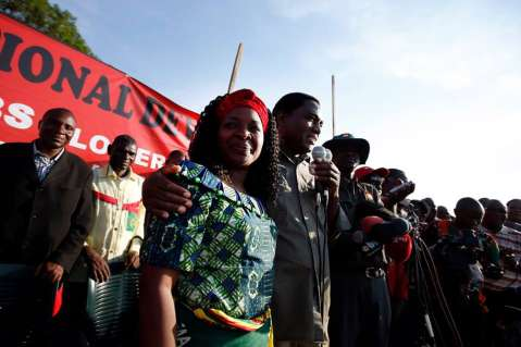 HH campaign rally in Kanyama compound, Sunday, Nov. 23, 2014, in Lusaka, Zambia. (Photo by Jason DeCrow)