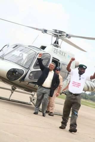 Arrival of Hon.Given Lubinda