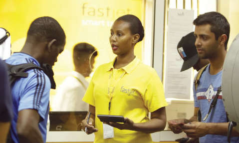 CHECK IN: Fastjet has ambitions to be the largest LCC in Africa.