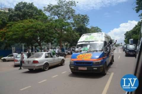 Edgar Lungu supporters in Lusaka