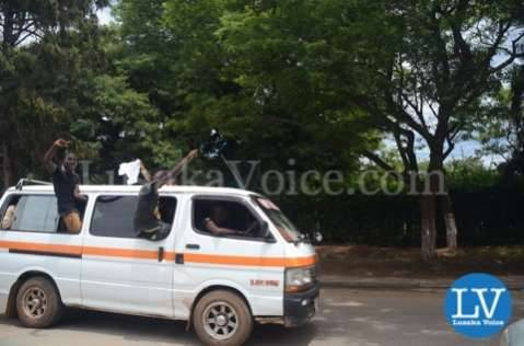 Nevers Mumba supporters in Lusaka