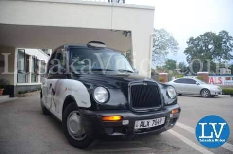Evelyn Odoro arrives at Fairview Hotel in a  Zambia Discounts London Cab after arriving in Lusaka