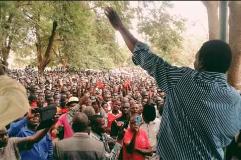 HH - UPND - Dec 5th 2014 Moments ago in Mumbwa, I spoke to an amazing crowd of supporters ready for a new journey. Thank you for having me, Mumbwa!
