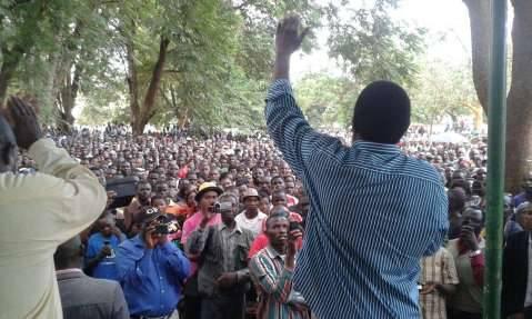 HH UPND addressing the Mumbwa rally