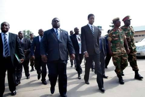 Hon. Edgar Chagwa Lungu took time to officially open a Military Hospital in Ndola