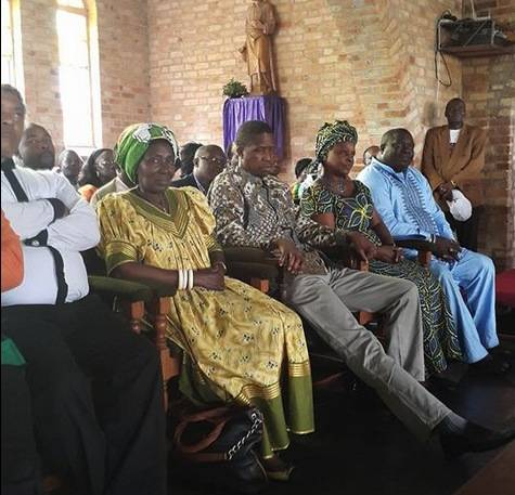 Hon. Egar Lungu, his wife Esther and Members of the Central Committee, Ministers and Members of Parliament attending the Church Service at Mansa Cathedral,,.