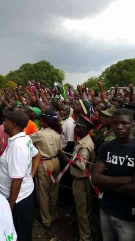 LUNGU AT LAUNCH OF THE NATIONAL CAMPAIGN AT FREEDOM PARK IN KITWE ON 6TH DECEMBER 2014,