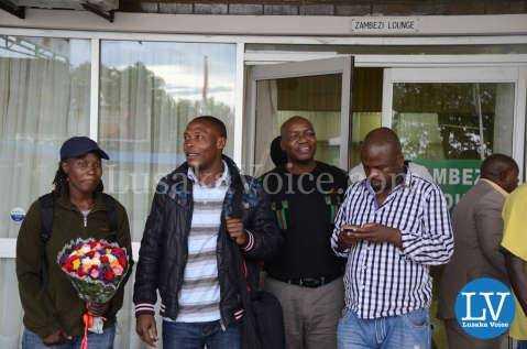 Media Briefing for Esther Phiri vs Evelyn Odoro Boxing at Kenneth Kaunda International Airport in Lusaka