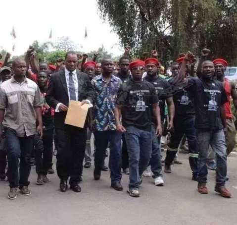 Miles Sampa with the Red Beret - Image credit - Emmanuel Mwamba
