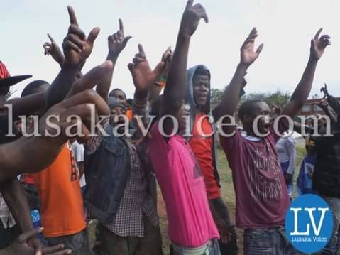 Nevers Mumba's supporters at Supreme Court in Lusaka onDec 15, 2014 by Lusakavoice.com