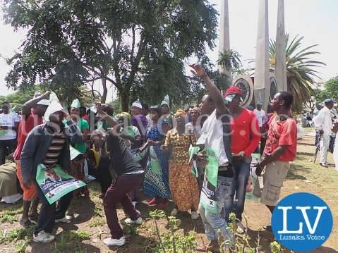 PF MP, Mile Sampa's supporters at Supreme Court in Lusaka on Dec 15, 2014 by Lusakavoice.com