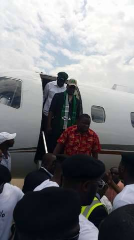 PF President Edgar Lungu arrives in Ndola now going to Kitwe ,,