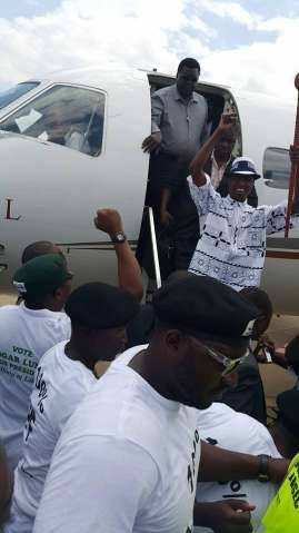PF President Edgar Lungu arrives in Ndola now going to Kitwe