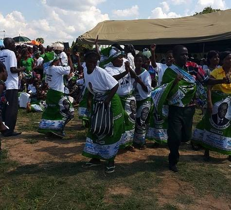 Warming up for the arrival of PF President Edgar Lungu