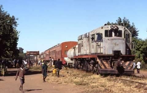 train. Livingstone – Mulobezi stopping at Livingstone- Sawmills