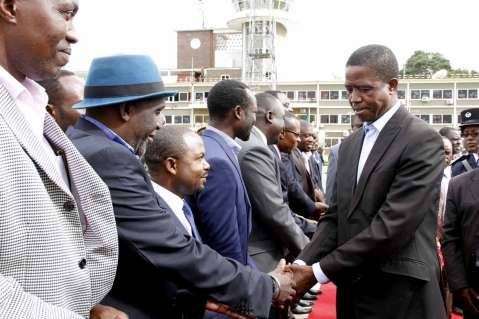 President Lungu leaves for Ethiopia