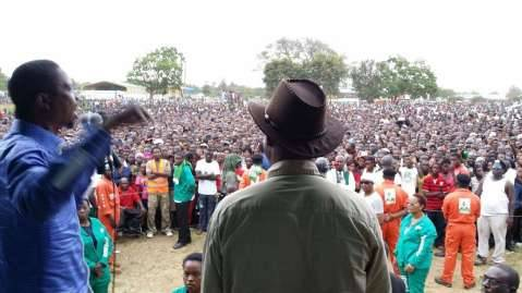 Choma shows up in numbers to be addressed by PF President Edgar Lungu.
