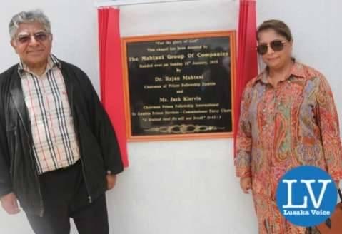 Dr Raj Mahtani and wife Binah Mahtani  - Photo Credit : Jean Mandela for Lusakvoice.com