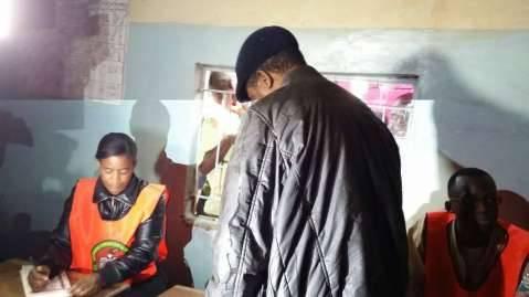 Edgar Lungu votes