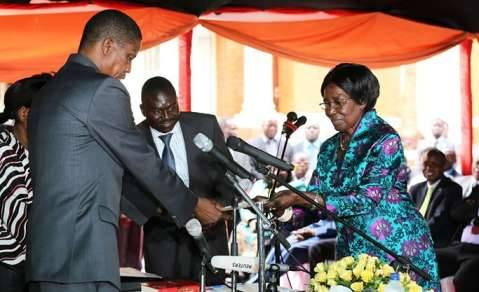 Inonge Wina has become Zambia's first woman Vice President in Zambia's history.