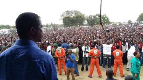 Lungu - Choma shows up in numbers to be addressed by PF President Edgar Lungu.