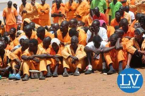 Mwembeshi Maximum Security Prison inmates  - Photo Credit : Jean Mandela for Lusakvoice.com