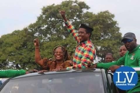 PF Rally at Woodlands Stadium  , Edgar wife is Esther Bana Dalitso Lungu - Photo Credit - Jean Mandela for Lusakvoice.com-1