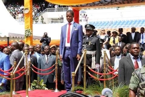 President Edgar Lungu during his Inauguration Ceremony at Heroes Stadium in Lusaka on January 25  ,2015 -Picture by THOMAS NSAMA