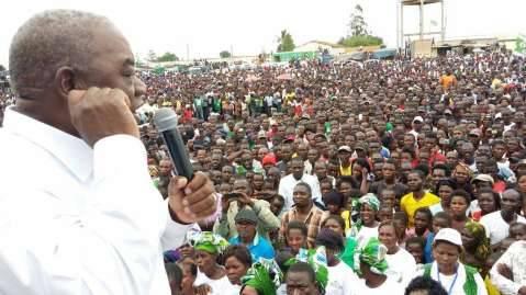 President Rupiah Banda and Captain Chewe addressing the Kapiri Rally