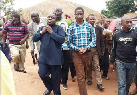 PF President Edgar Lungu arrives in Mununga at Chief Mununga