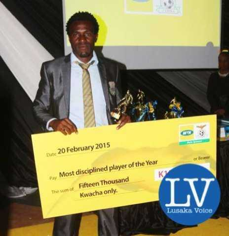 Most disciplined player- Winston Kalengo and FAZ ex com Lenny Nkuwa - Image Credit - Jean Mandela