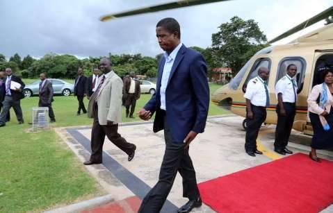 President Edgar Chagwa Lungu arrival