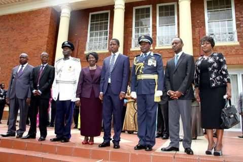 President Lungu at state house