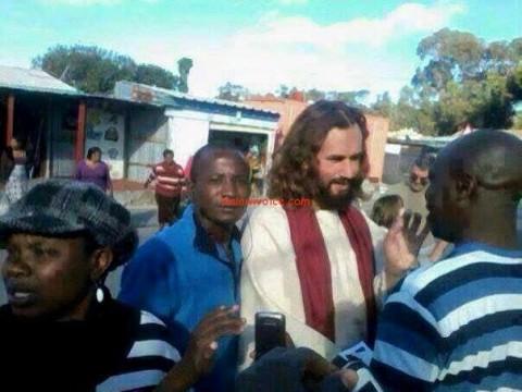 'Jesus' walks the streets of Chipata, Zambia