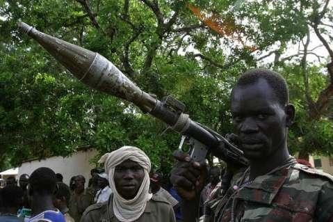 A rebel soldier in the Central African Republic
