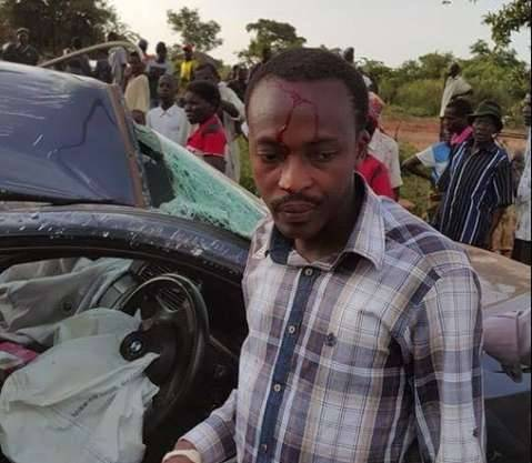 Brian Hapunda survives road accident