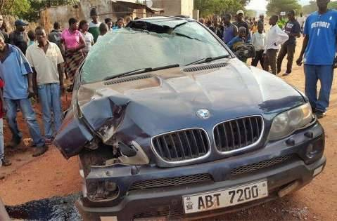 Brian Hapunda survives road accident ,